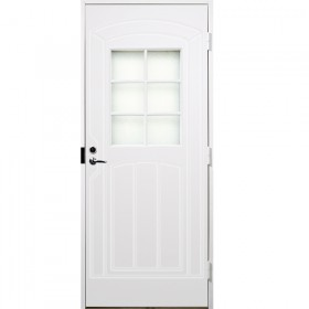 Ulko-ovi lasi-ikkunalla 10x21